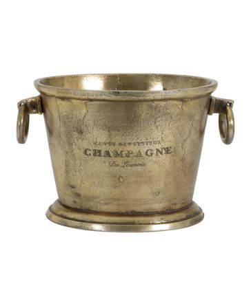 Seau à champagne ovale antique bronze