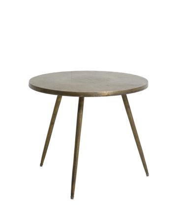 table d'appoint 59*51 ht antique bronze