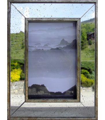 Cadre photo miroir piqué 10*15