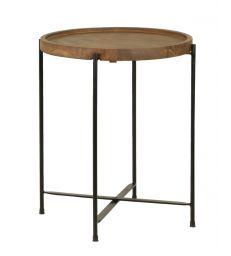 Table d'appoint bois et métal H45