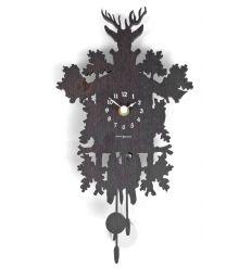 Horloge murale chalet wengé
