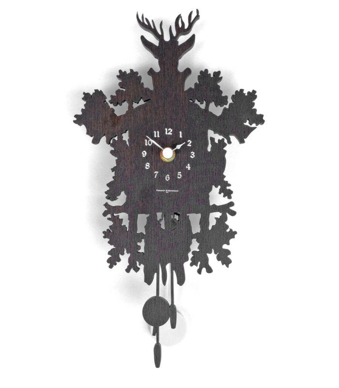 Horloge murale mignon wengée