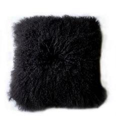 Coussin chèvre de mongolie noir 40x40