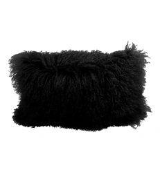 Coussin chèvre de mongolie noir 45x30