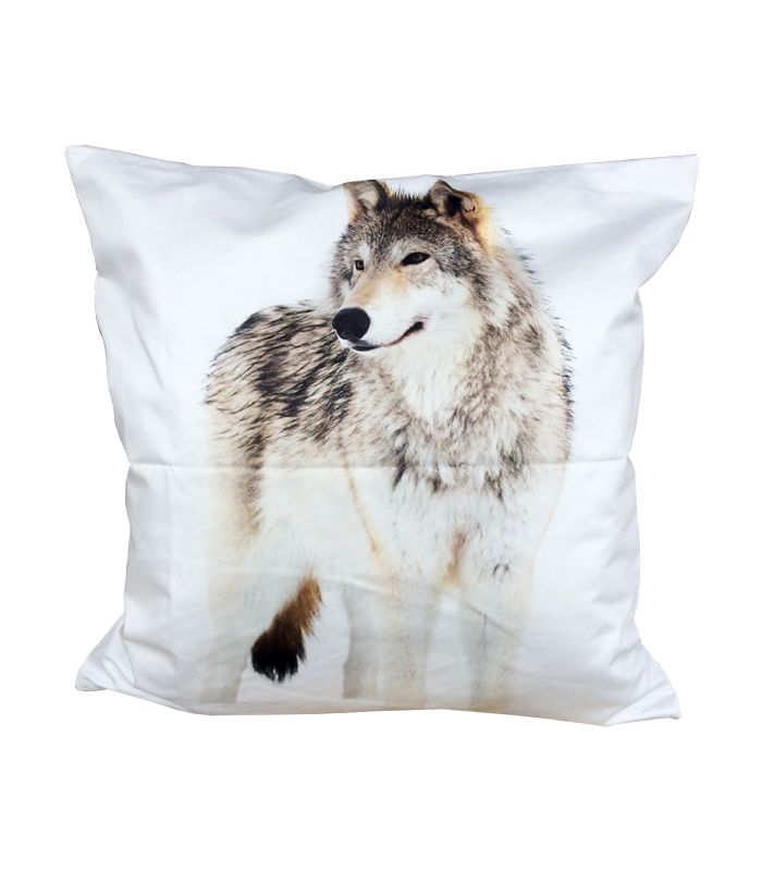 Coussin loup 50*50