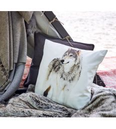 Coussin loup 50x50