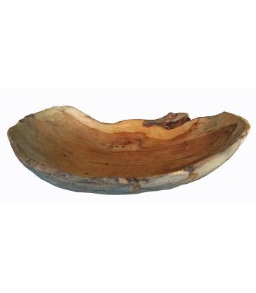 Coupelle en bois brut L30