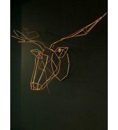 Tête renne cuivre