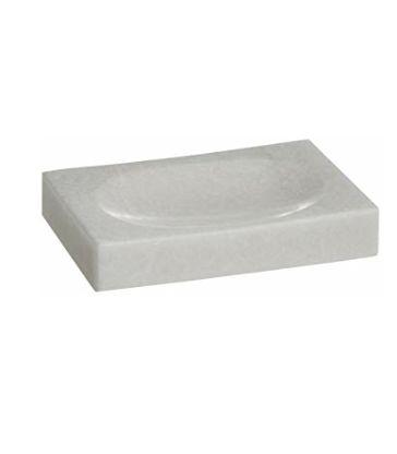 Porte savon marbre blanc