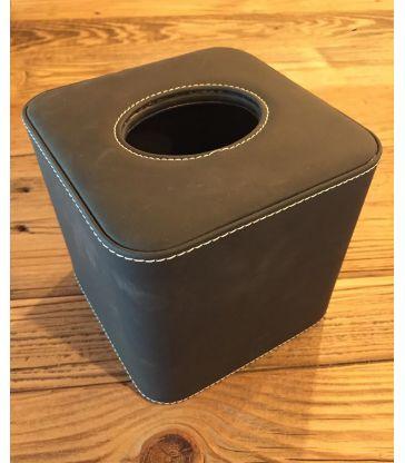 Boite à mouchoirs velouté noir