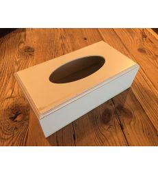 Boîte à mouchoirs beige