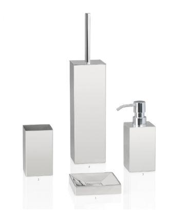 Distributeur de savon carré en inox