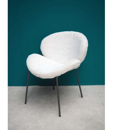 Chaise laine blanche