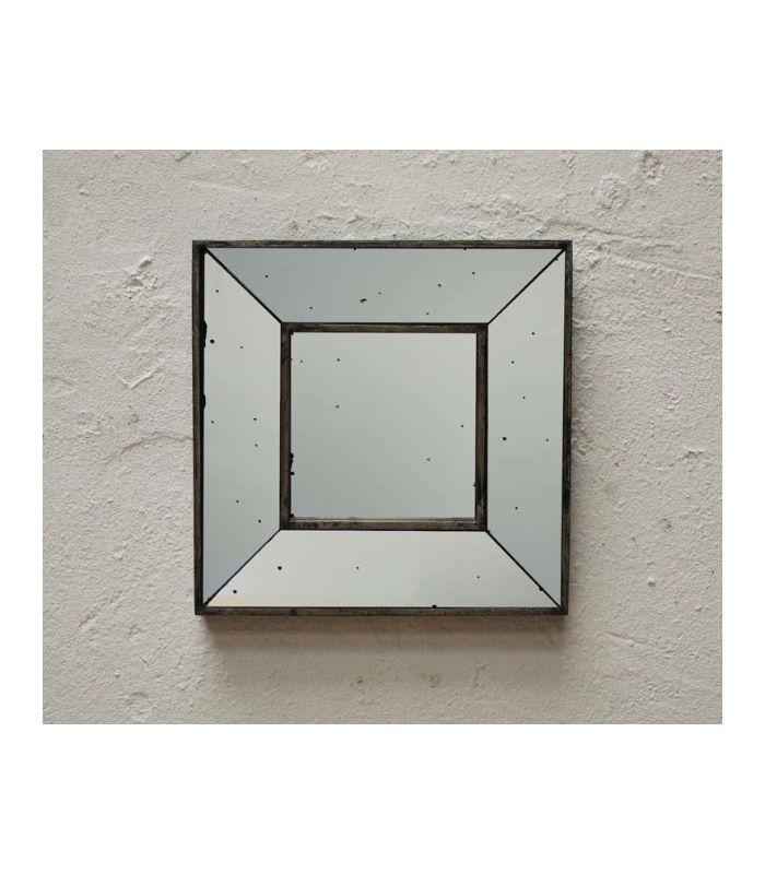 Miroir carré bords mouchetés