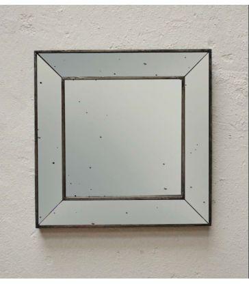 Miroir carré bord mouchetés 45cm