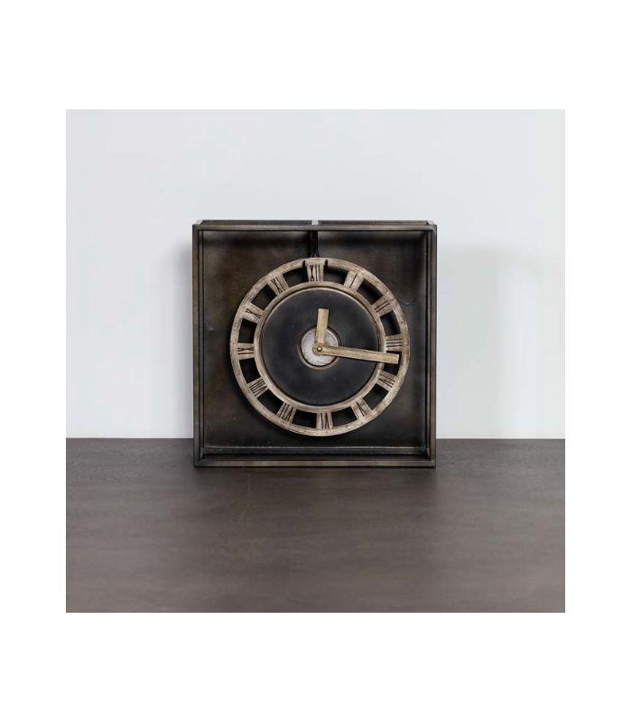 Horloge suspendue cadre métallique