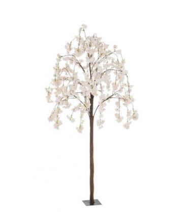 Arbre En Fleurs Plastique Blanc/Rose Small