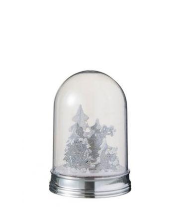 Cloche Hiver Arbre et Cerf LED H19