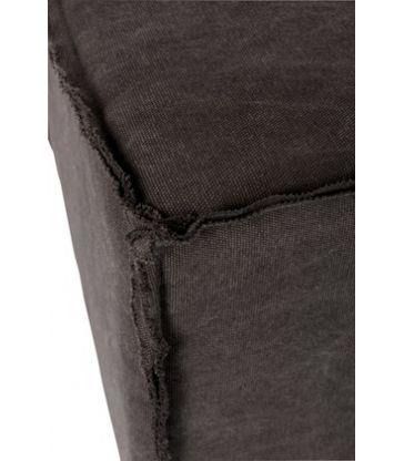 Banc Rect. Textile/Metal Gris 102*42*46
