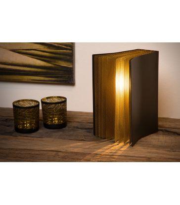 Lampe de table Livret E14/40W Noir et Or