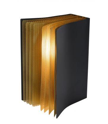 Lampe de table Livret Noir et Or