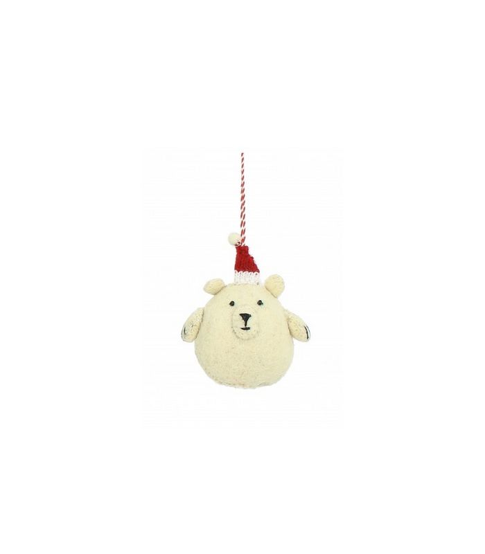 Suspension bébé ours avec chapeau