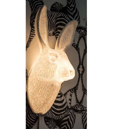 Applique porcelaine lièvre