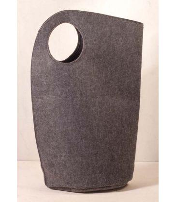 Panier feutre gris foncé poignée ronde