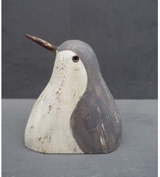 Tête de pingouin grise à poser