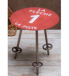 Table d'appoint piste rouge