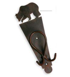 Patère métal ours