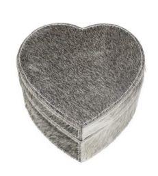 Boite coeur vache gris