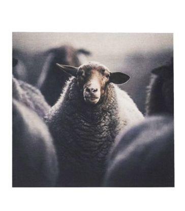 Panneau mural moutons