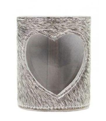 Lanterne vache coeur 15 cm