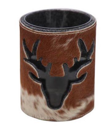 Lanterne vache cerf brun 15cm