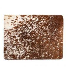 Set de table peau de vache brun
