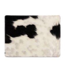 Set de table peau de vache noir et blanc
