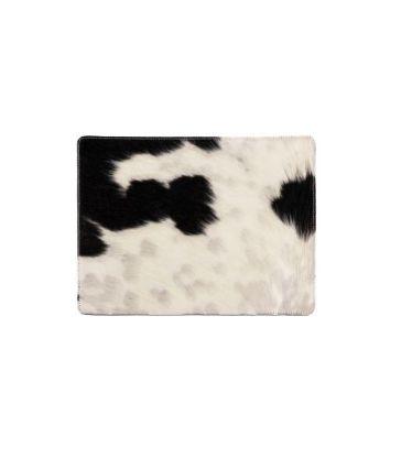 Set de table peau de vache noir