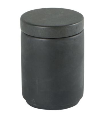 Pot avec couvercle en ciment