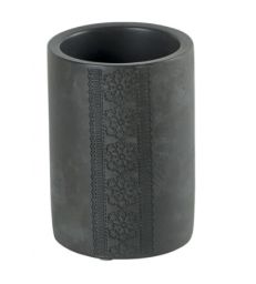 Porte brosses à dents ciment gris