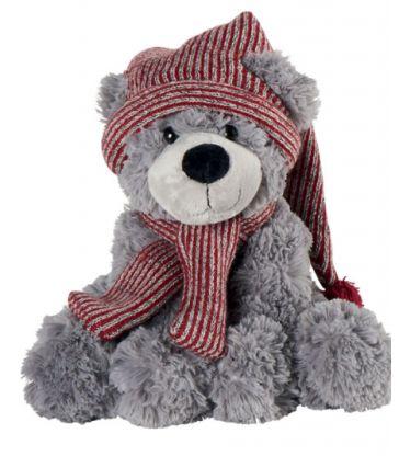 Ours gris avec bonnet