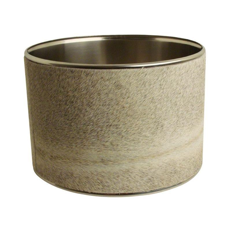 abat jour cylindrique peau de vache grise. Black Bedroom Furniture Sets. Home Design Ideas
