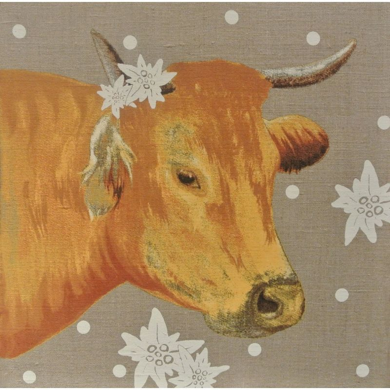 canvas head of cow