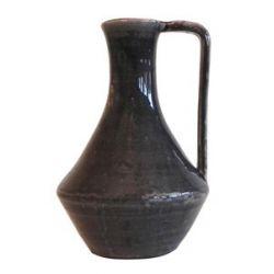 Vase en céramique noire