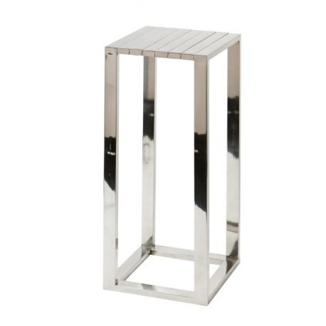 Table carrée finition nickel